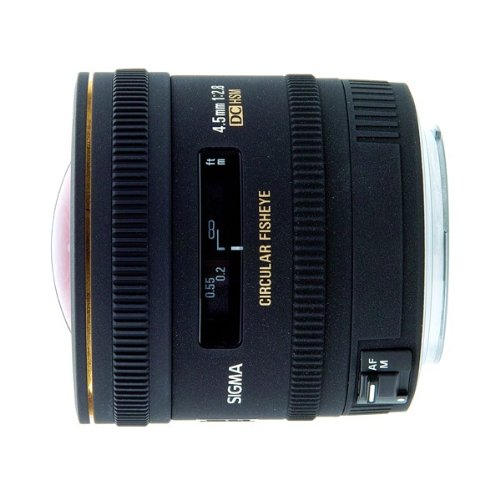 Sigma 4.5mm F2.8 EX DC HSM Circular Fisheye Lens for Canon Digital SLR cameras