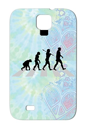 Tpu Miscellaneous Funny Jokes Primates Monkeys Funny Ape The Evolution Of Man Abbey Road Crossing Humor Chimp Silver Abbey Road Cross Cover Case For Sumsang Galaxy S4 front-344733