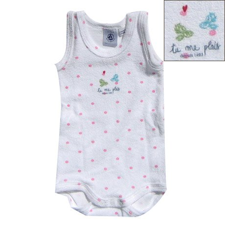 Petit Bateau Polkadots Terry Bodysuit for Girls - Buy Petit Bateau Polkadots Terry Bodysuit for Girls - Purchase Petit Bateau Polkadots Terry Bodysuit for Girls (Petit Bateau, Petit Bateau Apparel, Petit Bateau Toddler Girls Apparel, Apparel, Departments, Kids & Baby, Infants & Toddlers, Girls, Shirts & Body Suits, Body Suits)