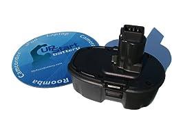 UpStart Battery for Dewalt 18 Volt Power Tools. Includes UpStart Battery Mouse Pad. 18V. 3300mAh