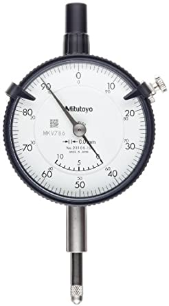 Mitutoyo Dial Indicator, Metric, M2.5X0.45 Thread, 8mm Stem Diameter