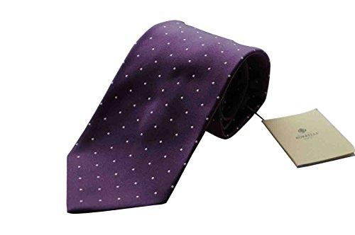 luigi-borrelli-napoli-italy-mens-tie-bnwt-luxury-silk-purple-polka-dot-7-fold