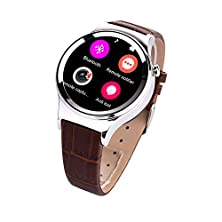 buy Xgody T3 Smart Watch Sim Sd Card Bleutooth Wap Gprs Heart Rate Temperature Monitor Sports Pedometer Round Circlewristwatch For Android Ios Smartphone (Silver)
