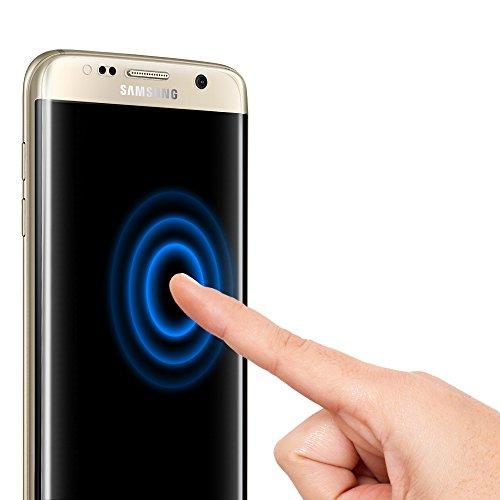 **2-Pack** Pellicola protettiva Galaxy S7 edge, Spigen Curved Crystal film [Estrema Resistente ai graffi] **Anti-riflesso Ultra-Clear** Pellicola protettiva Samsung Galaxy S7 edge, Pellicola Galaxy S7 edge 556FL20257