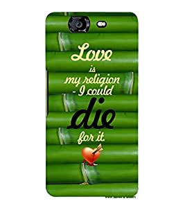 EPICCASE love is my religion Mobile Back Case Cover For Micromax Canvas Knight A350 (Designer Case)