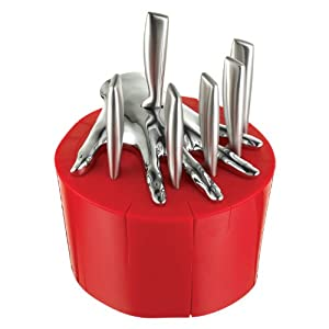 Five Finger Fillet Red Steak Knife Holder Designed By Raffaele Iannello