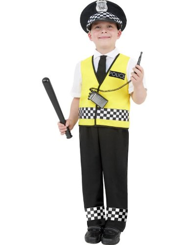 Child Police Boy Fancy Dress Costume