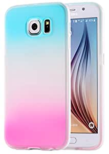 Galaxy S6 Case, Arkko [Hybrid] Blue and Pink Slim Case [Perfect Fit] Soft TPU [Scratch Resistant] Flexible and Sleek [Durable and Light] ECO-Friendly Packaging for Galaxy S6 7s603bp