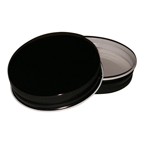Nika's Home Jelly or Mason Jar Lid - 12 pack - G70 CT (Black)