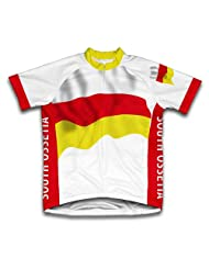 South Ossetia Flag Short Sleeve Cycling Jersey for Women