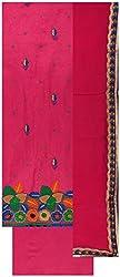 Gunjan Women's Cotton Silk Unstitched Salwar Suit (Magenta Pink )