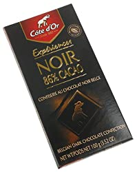 Cote D'or Dark (86%) Brut Chocolate Cocoa, 3.52-Ounce Bars (Pack of 10)