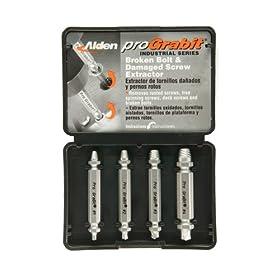 Alden 8440P Pro Grabit Broken Bolt and Damaged Screw Extractor 4 Piece Kit