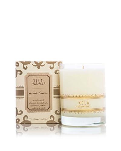 Xēla Aroma 14-Oz. Classic White Linen Candle