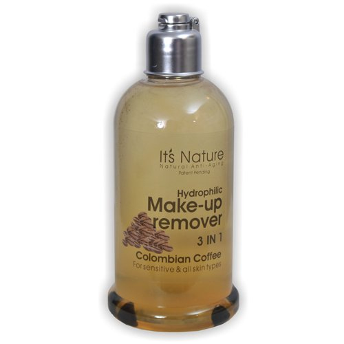 It's Nature - Natural Anti Aging With Dead Sea Minerals, Hydrophilic Make-up remover 3 IN 1 Colombian Coffee For all skin types and Sensitive skin