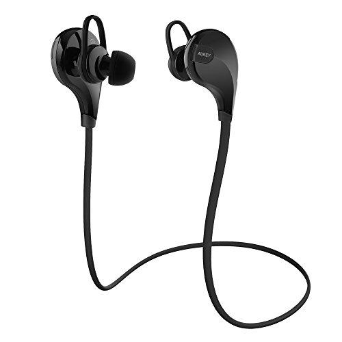 AUKEY Sport Bluetooth Kopfhörer 4.1 Stereo Headset Ohrhörer In Ear Kopfhörer mit Mikrofon für iOS und Android Handys iPhone Samsung HTC iPad
