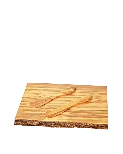 Pacific Merchants 12 Olive Wood Serving/Cutting Board with Set of 2 Spreaders