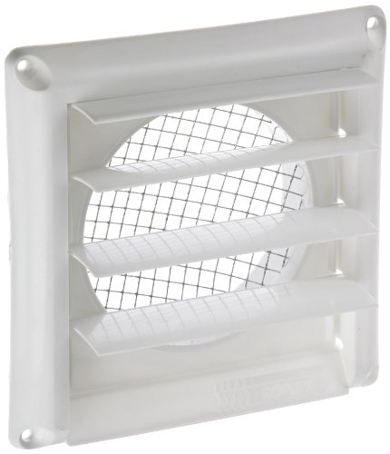 Imperial Manufacturing GG-4W 4-Inch Premium Vent Cap, White (Dryer Vent Wall Cover compare prices)