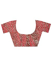 Unstitched Blouse Piece With Embroidered Stone Work On Net Cloth
