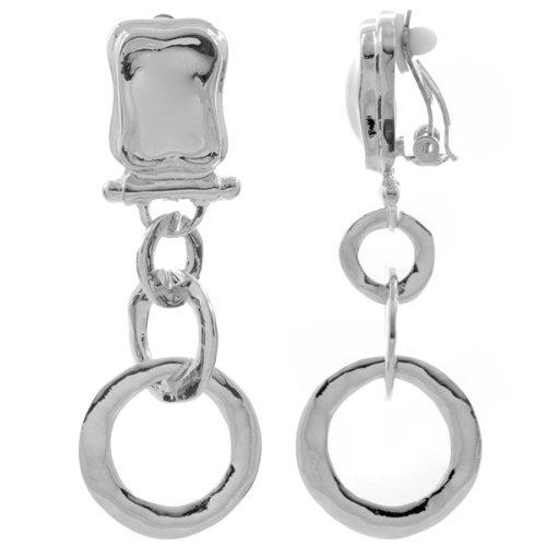 ballys-dangle-clip-on-earrings-silver-final-sale