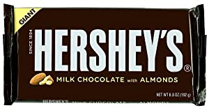 Hershey's Milk Chocolate with Almonds Bar, 6.8-Ounce