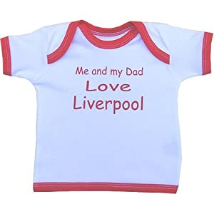 Me And My Dad Love Liverpool Baby T Shirt born-24 Months In 9 Colours by Niccolas B