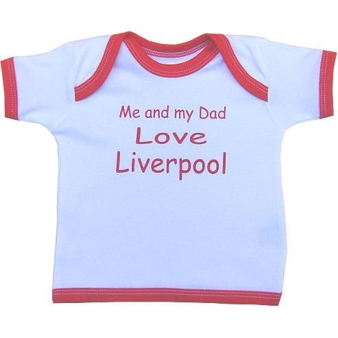 Me and my Dad Love Liverpool baby T Shirt Newborn-24