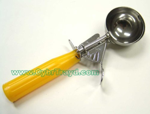 Winco ICD-20 No.20 Ice Cream Disher with Plastic Handle, Yellow (Food Disher compare prices)