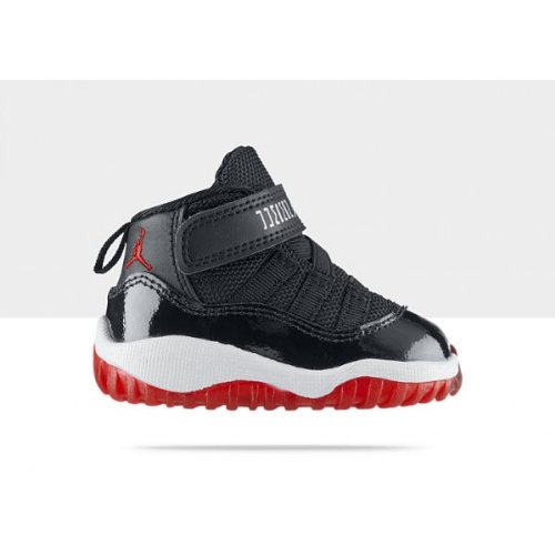 Nike Air Jordan 11 Retro Toddler Size 3.5 (Black / Varsity Red / White) 378040-010 front-1058285