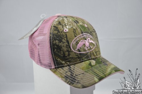 Review Duck Commander Women's Mesh Hat, Camo/Pink