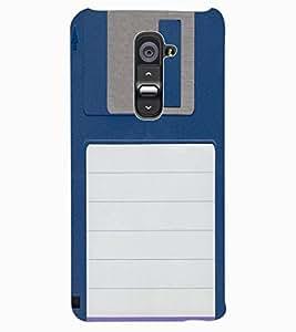 ColourCraft Floppy Disk Design Back Case Cover for LG G2
