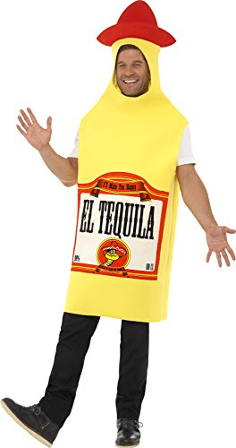 Tequila-Flasche Kostüm mit Jumpsuit , One Size