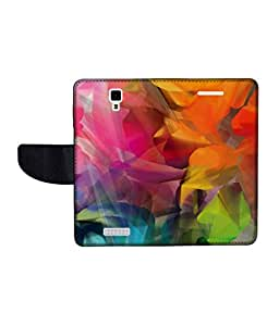 KolorEdge Printed Flip Cover For Gionee Pioneer P4 Multicolor - (45KeMLogo11502GioneeP4)