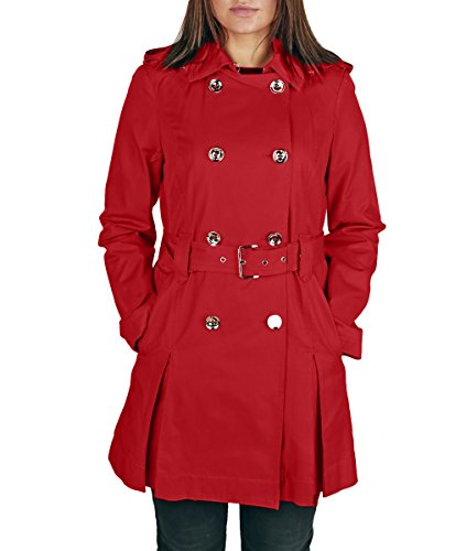 Michael Kors Red Women's Trench Coat S (Rain Jackets Michael Kors compare prices)