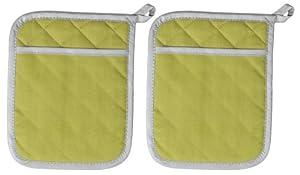 Now Designs Flameguard Pocket Mitt, Cactus, Set of 2