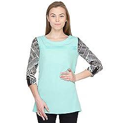 Orous Women's Body Blouse Shirt (Bela004_Mint_X-Large)