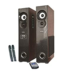 Intex IT-10500 SUF Plus Tower Speakers - Black and Brown