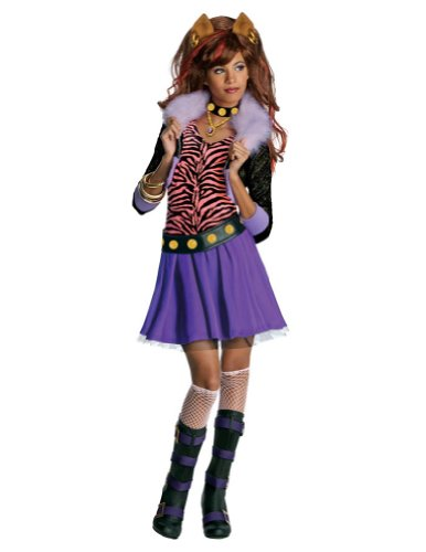Kids-Costume Clawdeen Wolf Lg Halloween Costume - Child Large