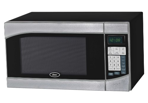 Oster OGH6901 0.9 Cubic Feet Digital Microwave Oven, Stainless/Black