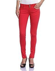 Madame Women's Slim Pants (M1427151_Red_30)