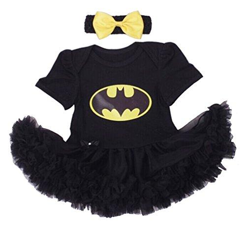 [Dorara Newborn Supergirl Baby Girl Romper Dress (S:0-3 months, Batgirl)] (Baby Batgirl Outfit)