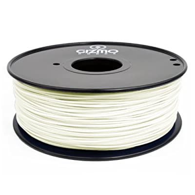 Gizmo Dorks 1.75mm HIPS Filament 1kg / 2.2lb for 3D Printers, White