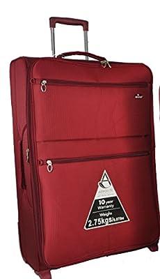 "Aerolite® Super Lightweight Expandable World lightest Suitcase Trolley Cases Bag Luggage (29"", Wine)"