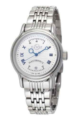 GV2 by Gevril Men's 4141B Masterpiece Automatic Stainless Steel Bracelet Watch