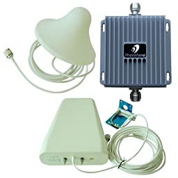 Celluar Dual band 850MHz 1900MHz Repeater 55dB Gain Cell Phone Mobile Signal Booster GSM/3G 850/1900MHz Amplifier With Indoor Ceiling And Outdoor Directional Antennas For Home Or Office Large Coverage---Fulfill by Amazon