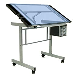 Vision Craft Station in Silver / Blue Glass