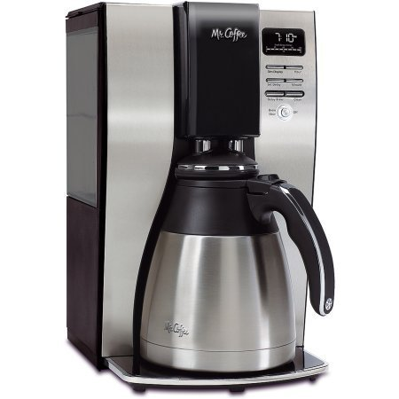 Mr. Coffee 10-Cup OptimalBrew Thermal Coffee Maker, BVMC-PSTX91-WM comes with removable water reservoir and 97% water filtration system (5 Star Coffee Makers compare prices)