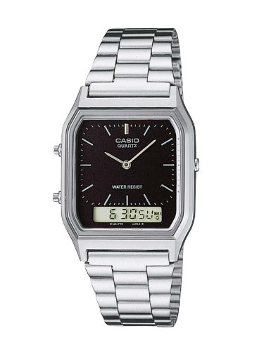 Casio AQ-230A-1DMQYES Mens Combi Bracelet Watch with Stop Watch