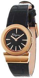 Salvatore Ferragamo Women's F70SBQ5009 SB09 Gancino Sapphire Crystal Black Leather Watch from Salvatore Ferragamo