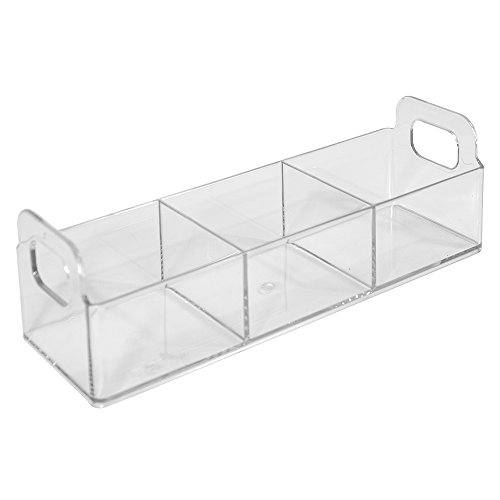 """InterDesign Clarity Cosmetic Organizer Tote for Vanity Cabinet to Hold Makeup, Beauty Products - 9"""" x 3"""" x 3"""", Clear"""